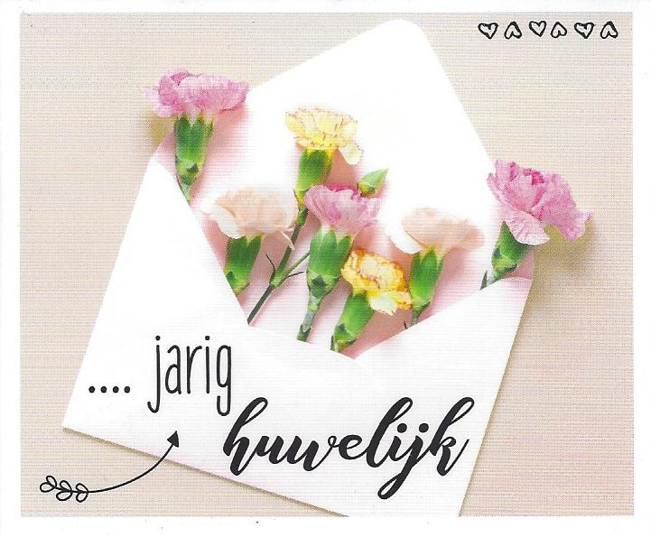 … jarig huwelijk – kaartje